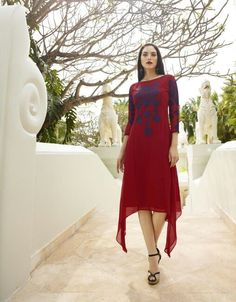 d1122ebf7e6  red  navyblue  westernoutfit  westernfashion  cotton  gowns