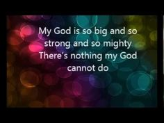 My god is so big and so strong and so mighty Kids Worship Songs, Kids Songs, Music For Kids, Positive Phrases, Positive Affirmations, New Testament Books, Action Songs, Jesus Christus, Do Not Fear