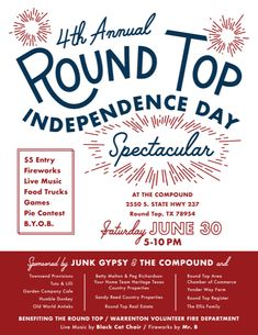 Celebrating 4th of July in the Roundtopolis - Round Top