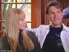 Patick Swayze & his wife from interview with Barbara Walters. His love for his wife & will to fight his cancer is just amazing & sexy too!! Gone to soon!