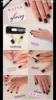 glossy nails matte tips !