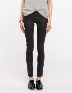 Coated Black Jean