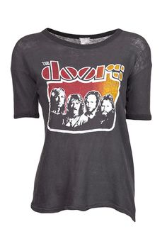 16 Vintage Tees To Live In All Summer  Vintage 1970s The Doors LA Woman Concert T-Shirt, $500, available at Farfetch.