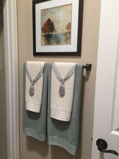 Bathroom Towel Decorating Ideas InspiredTtransform Decorating - Bathroom towel arrangement ideas