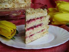 Торт Наполеон с кремом Муслин и брусничным соусом пошаговый рецепт с фотографиями