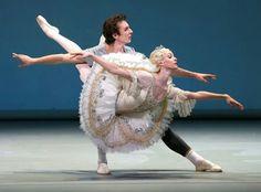 "Olga Smirnova and Semion Chudin rehearsing ""The Sleeping Beauty"" with the Bolshoi Ballet while on tour in Norway."