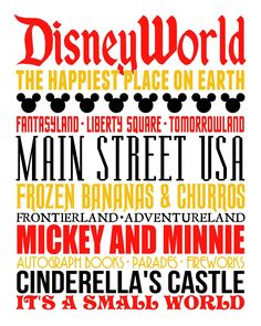 Disney World Subway Art ...click for free download!