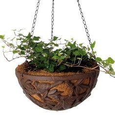 Cast Iron Hanging Basket Planter w/ birds $23.95