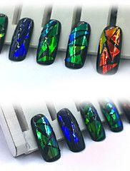 5PCS Foil Galaxy Nail Sticker Paper Shiny Decal