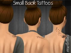 Sims 4 CC's - The Best: Small Back Tattoo by Luvjake