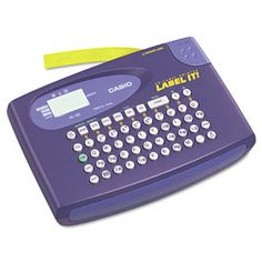 Casio Compact Label Maker, 2 Lines Best Label Maker, Label Makers, Office Girl, Character Symbols, Thermal Labels, Clear Labels, Printer Types, Thermal Printer, Grooming Kit