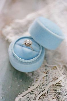 Vintage Velvet Ring Box