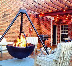 Cowboy Cauldron: A Hanging Tripod Fire Pit