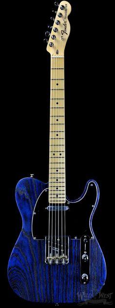 Fender USA Limited Edition Sandblasted Telecaster Sapphire Blue Transparent - Wild West Guitars #FenderGuitars