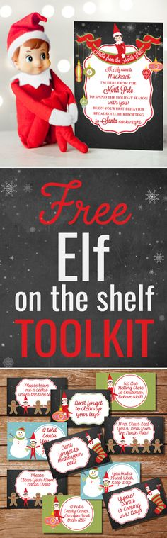 Download your FREE Elf on the Shelf Toolkit, including welcome and goodbye letters, naughty and nice posters and loads of Elf Notes. All Editable! Get festive!