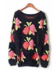 Rose Graphic Sweater
