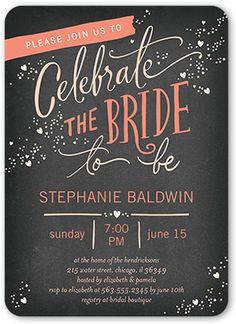 Chic Celebration Bridal Shower Invitation