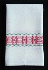 """Poinsettia On Madagascar Towel Kit #PM01 Kit includes: Malaga Towel 17 1/2"""" x 28"""""""