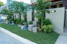 Home Builders, General Contractors, House Designs Philippines Bungalow Landscaping, Small Front Yard Landscaping, Modern Landscaping, House Fence Design, Bungalow House Design, Design Your Dream House, Garden Ideas Philippines, Philippines House Design, House Landscape