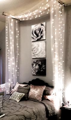 Small Room Bedroom, Bedroom Lamps, Room Decor Bedroom, Girls Bedroom, Wall Lamps, Diy Bedroom, Bed Room, Stylish Bedroom, Master Bedrooms