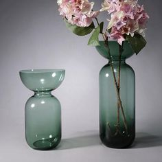 Modern Art Glass Vase Color Painted Table Flower Collectible   Etsy