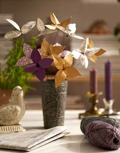 DIY - flowers to make, this site has a number of  tutorials