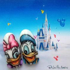 Daisy Duck Nail Art Tutorial - Disney Nail Art - BNailMaster