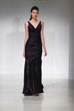Cheap Simple A-line Straps V-neck Ruching Floor-length Taffeta Evening Dresses From Highly Praised Online Shop