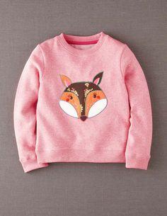 Ich+hab+das+auf+@BodenDirect+entdeckt.+Sweatshirt+mit+Applikation+Ballettrosa/Fuchs