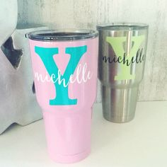 Personalized Name & Initial Tumbler Decal