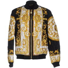 VERSACE Jacket ($1,941) ❤ liked on Polyvore featuring outerwear, jackets, versace jacket and versace