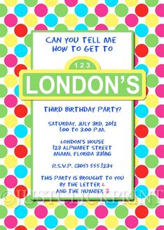Sesame Street Birthday Invitation - parties at the Center for Puppetry Arts, Atlanta, GA