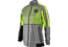 Available at www.soccerpro.com...Nike Womens USA Select Rev Lightweight Woven Jacket - Grey and Volt