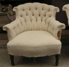greige: interior design ideas and inspiration for the transitional home : Reupholstering the Vintage French Chair..