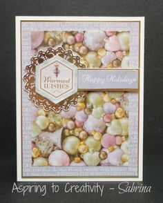 Aspiring to Creativity: Kaisercraft Christmas Wishes - Last Minute Cards 2