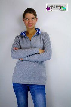 Schnittmuster / Ebook lillesol women No.12 Fleece-Pulli / Nähen Sweater/ Sewing pattern Fleece - Pullover