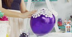Du hast schon sicher eine Menge Ideen davon gesehen, wie cool es ist, wenn du Spitze auf den Luftballon klebst und dann als Ergebnis eine tolles Schüssel oder Laterne