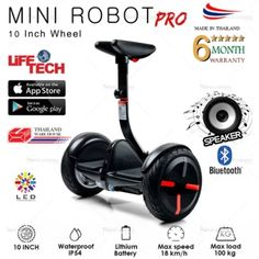 ลดราคา  NEW VIZION MINI ROBOT PRO Electric Scooter / Smart Balance Wheel /Mini Segway / Hover Board with Application for Phone MODELNN-NB01P/B (Black)  ราคาเพียง  16,999 บาท  เท่านั้น คุณสมบัติ มีดังนี้ Shipping the Next Day Bluetooth and Speakers Available 30 km Ultra-Long Riding Distance Self-Induction LED Rainbow Lamp 18 km/h Comfortable Speed Climbs Inclines and Traverses Small Obstacles Customizable LED Lights Lamp Remote-Control via Bluetooth Your Phone as the key and Smart Assistant…