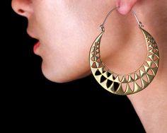 Triangle Hoop Earrings - Triangle Earrings - Triangle Jewelry - Geometric Jewelry. 62.00, via Etsy.