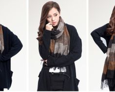 Ručne tkaný kašmírovo - bavlnený šál - vzor 07 Outfit, Outfits, Kleding, Clothes