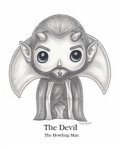 Custom Twilight Zone Funko Pop! Vinyl Design: The Howling Man Devil ~  © Wendy Brydge, 2017