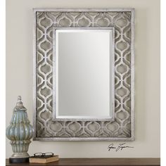 Sorbolo Antiqued Silver Mirror Uttermost Rectangle Mirrors Home Decor