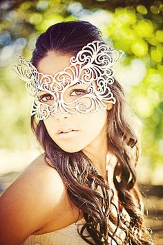 Rococo leather mask in White by TomBanwell on Etsy, $42.00
