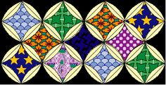 Measurements and instructions for cathedral quilt: http://www.quilterbydesign.com/lessons/cathedral/cathedral_windows.html