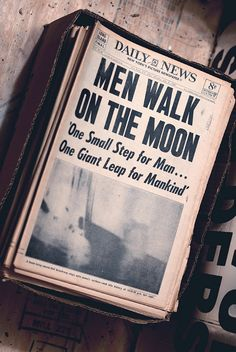Men Walk on the Moon headline