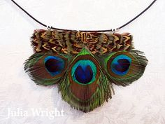 Peacock feather choker by Julia Wright Peacock, Feather, Chokers, Boho, Women, Art, Fashion, Peacock Bird, Craft Art