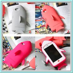 iPhone 6 Plus, 6, 5/5S - Shark on the Beach Case in Assorted Colors