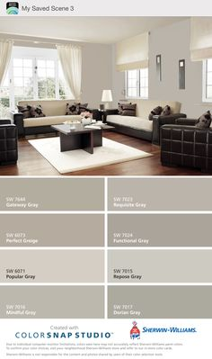 10 Inspired Tips: Interior Painting Schemes Warm interior painting living room mirror.Interior Painting Benjamin Moore i. Modern Color Schemes, Living Room Color Schemes, Living Room Colors, Colour Combinations Interior, Interior Paint Colors For Living Room, Beige Living Rooms, Paint Colors For Home, House Colors, Griege Paint Colors