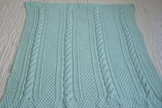Cabled Baby Blanket I