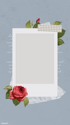 Blank collage photo frame template vector mobile p Cadre Photo Polaroid, Polaroid Frame Png, Polaroid Picture Frame, Polaroid Template, Polaroid Pictures, Polaroid Collage, Picture Templates, Photo Collage Template, Story Instagram